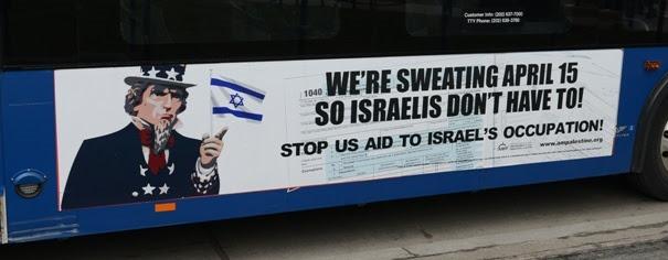 Campagne publicitaire de l'American Muslims for Palestine contre le financement de l'occupation israélienne ©  American Muslims for Palestine
