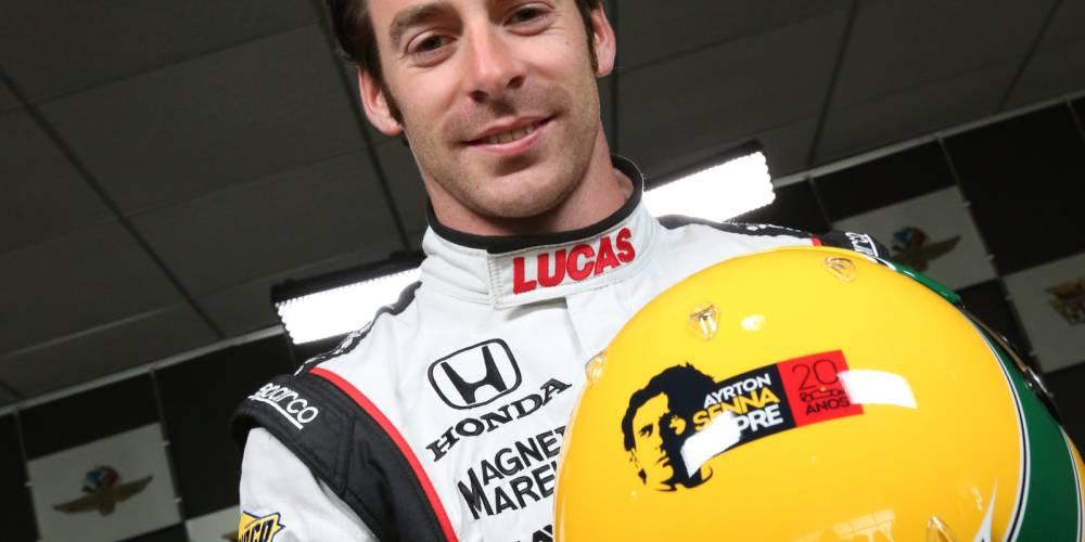 Le français Simon Pagenaud, bien placé, a voulu rendre hommage à Ayrton Senna dont il porte les couleurs ©  DR