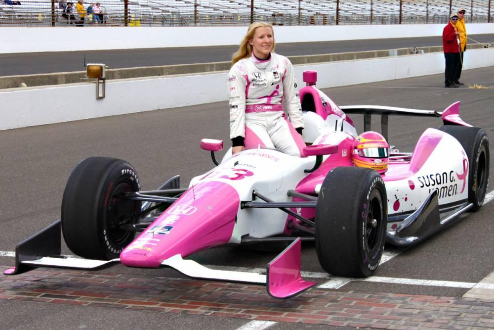 Susan Komen, en rose, défend les couleurs de la gent féminine ©  DR