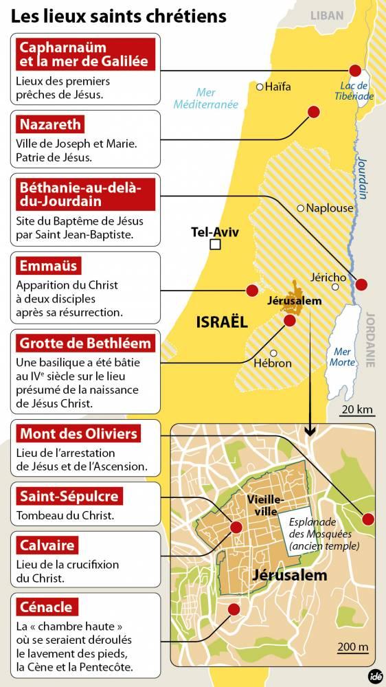 Les sites chrétiens d'Israël ©  Idé