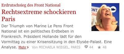 Capture d'écran du site du Franfurter Allgemeine Zeitung
