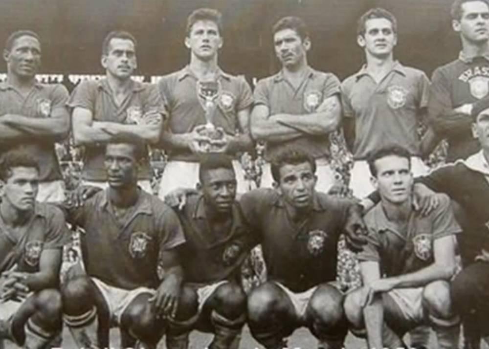 L'équipe du Brésil championne du monde 1958 (capture d'écran)