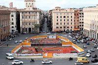 À Rome, le chantier de la ligne C du métro est financé, mais désespérément à l'arrêt. ©Lars Halbauer/AFP
