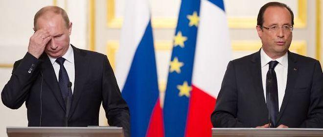 Vladimir Poutine et François Hollande.