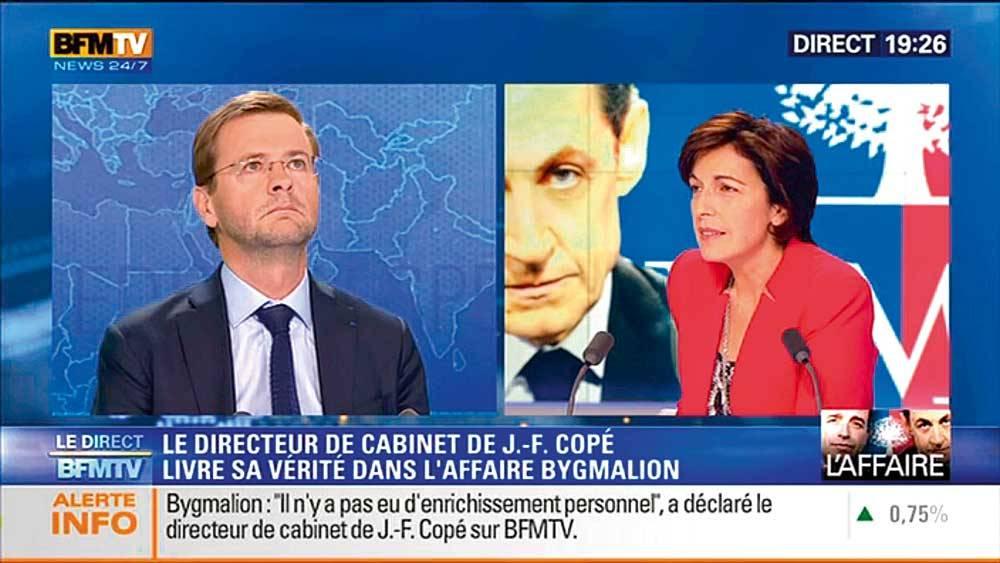 Jérôme Lavrilleux interrogé par Ruth Elkrief ©  BFM TV