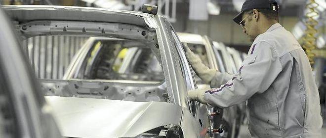 Chaîne de montage d'un constructeur automobile français.