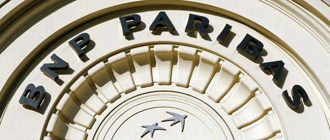 Le fronton de la banque BNP Paribas, dans le 1er arrondissement de Paris.