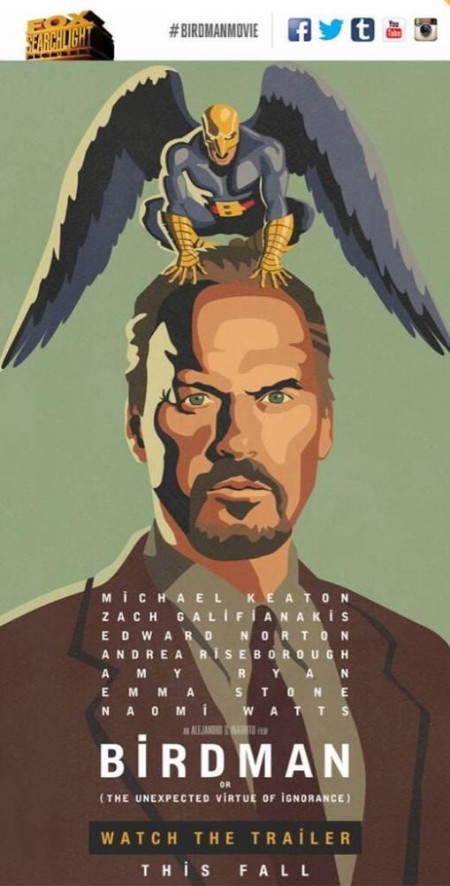 L'affiche du film Birdman ©  Fox Searchlight