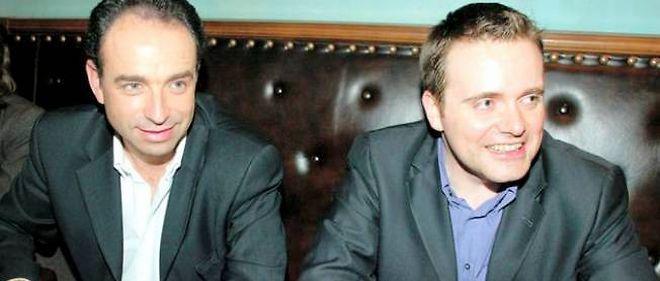 Jean-François Copé et Bastien Millot lors de la campagne des régionales en 2004.