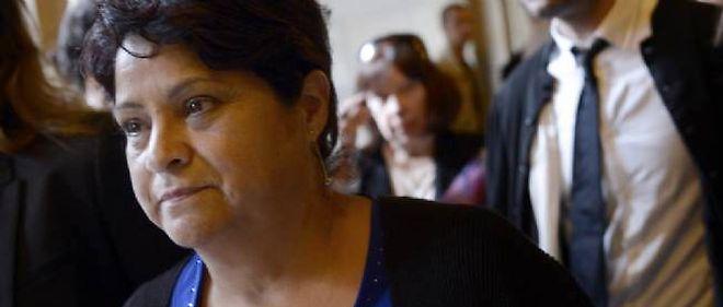 La directrice de la crèche privée Baby Loup de Chanteloup-les-Vignes Natalia Baleato quittant le palais de justice le 17 octobre 2013 à Paris.