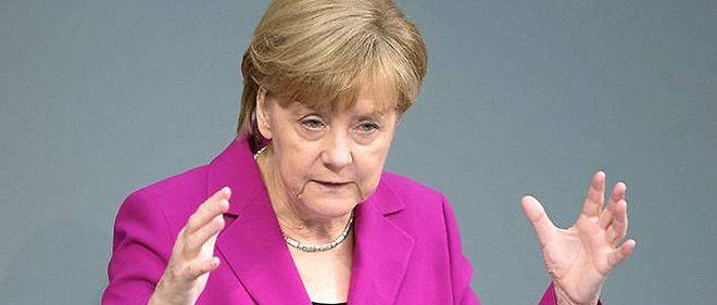 Angela Merkel s'est exprimée devant les députés allemands mardi matin.