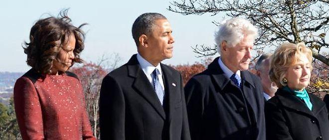 Les couples Obama et Clinton, ici en novembre 2013, ne s'entendraient pas très bien.