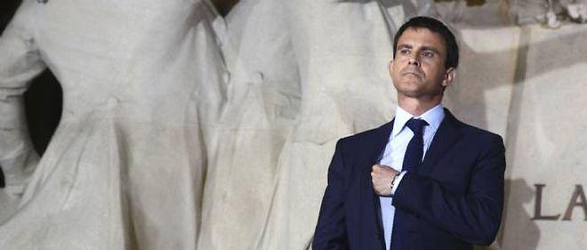 """Manuel Valls à l'inauguration de l'exposition """"Jaurès contemporain""""."""
