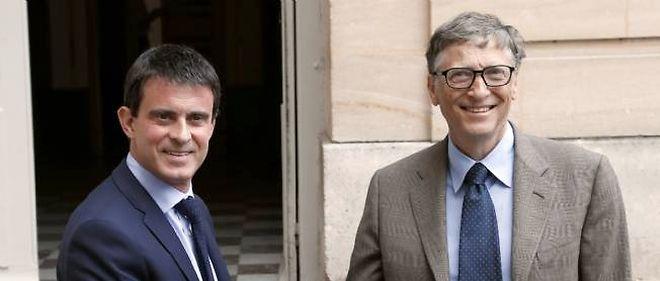 Manuel Valls et Bill Gates à Matignon