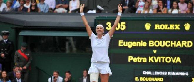 La Tchèque Kvitova après sa victoire à Wimbledon.