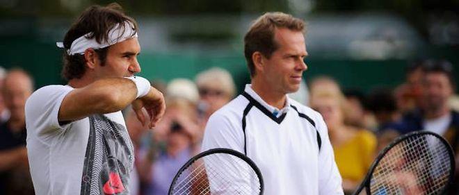 Roger Federer et son coach, Stefan Edberg.