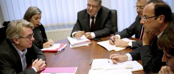 Jean-Claude Mailly et François Hollande en 2012.