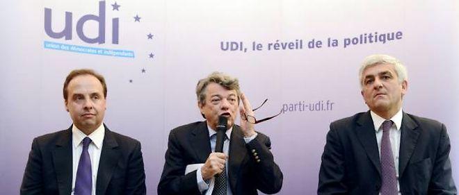 Lagarde, Borloo et Morin en mai 2013.