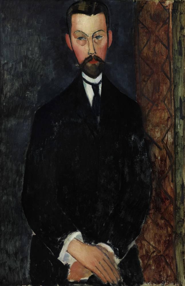 Amadeo Modigliani, portrait de Paul Alexandre, huile sur toile, 1911-1912.