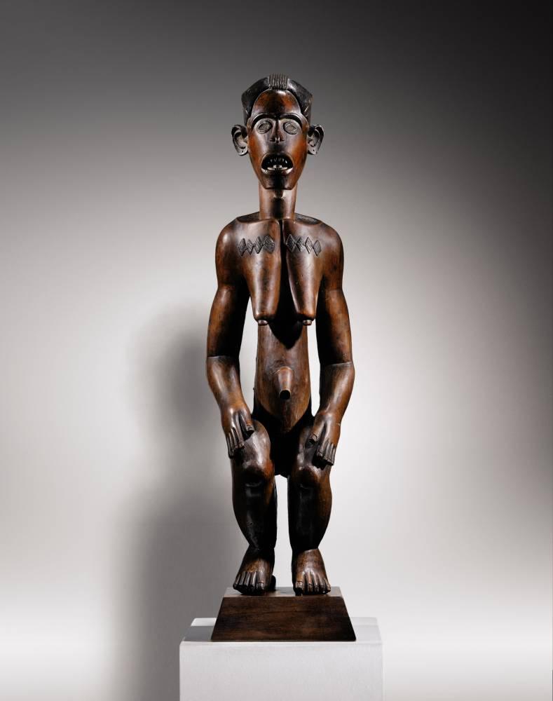 Statue Fang, Mabea, Cameroun, ayant appartenu à Félix Fénéon et Jacques Kerchache.