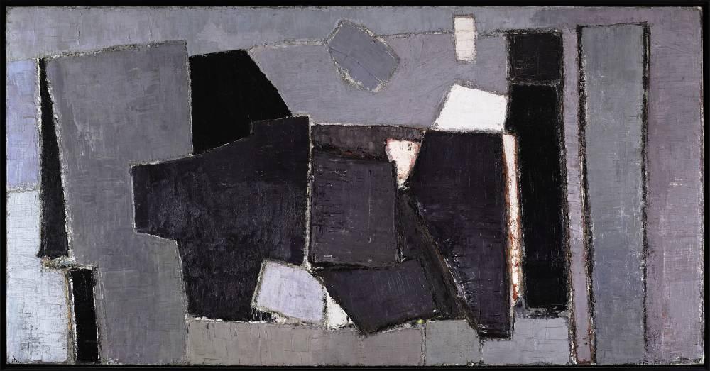 Nicolas de Staël, Composition, huile sur toile, 1950.