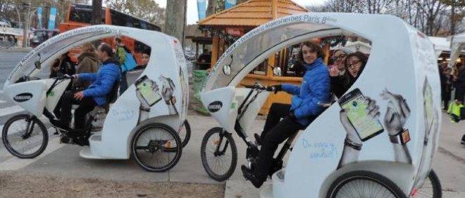 Paris compte environ 250 pilotes de cyclo-taxi autoentrepreneurs.