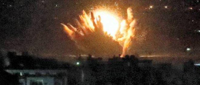 Un missile sur Gaza city le 17 juillet.