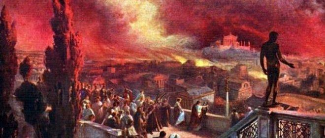 Rome Chrétienne et ses monuments - EUGENE DE LA GOURNERIE - 1867 Incendie-rome-neron-2648902-jpg_2384959_660x281