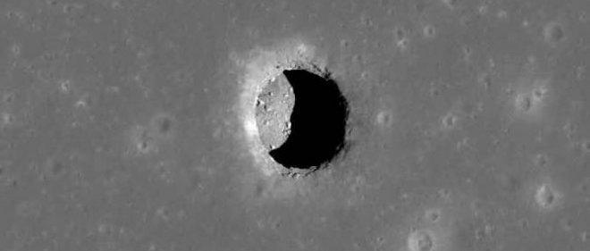 Voici l'une des 200 cavités déjà repérées par la sonde lunaire LRO.