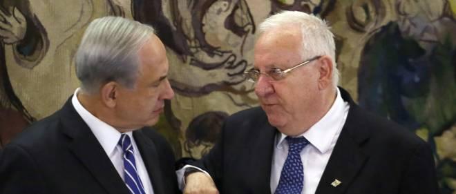 Reuven Rivlin (à droite) a pris officiellement jeudi les rênes de l'État d'Israël.