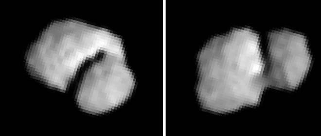 """Ces images de la comète """"Chury"""" ont été prises le 20 juillet 2014 par la caméra Osiris Nac de Rosetta."""