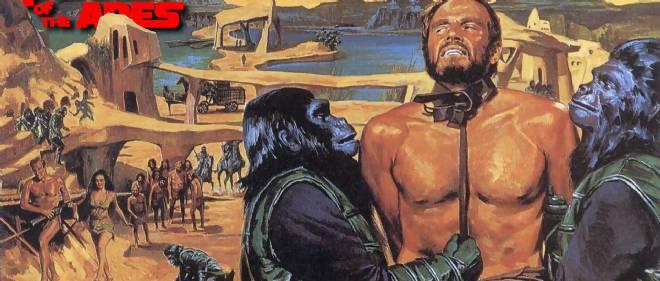 """Un poster de """"La Planète des singes"""", version 1968."""
