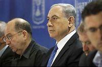 Benjamin Netanyahou préside le cabinet de sécurité qui s'est réuni vendredi soir. ©Dan Balilty/AP/Sipa