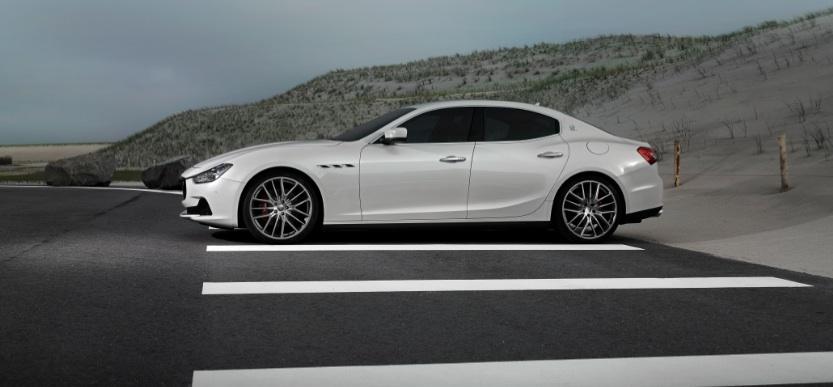 Même pour Maserati (ici la Ghibli), les projections sont exagérément enthousiastes ©  Maserati