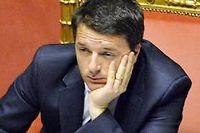 Matteo Renzi, président du Conseil italien, s'était concentré sur les réformes institionnelles. Il est rattrapé par la réalité économique. ©Andreas Solaro/AFP