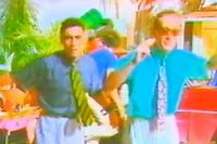 Stefano Rota et Stefano Righi, les sosies de Ted Mosbi et de Jean Roucas du groupe italien Righeira.