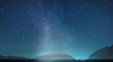 Capture d'écran du doodle consacré aux Perséides.