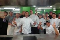 Franck Reynaud et son équipe. ©Gilles Pudlowski