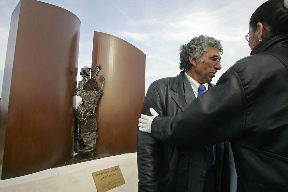 Inauguration du monument érigé à l'emplacement du camp. ©  AFP