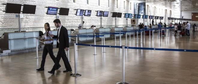 L'aéroport de Tel-Aviv après de nombreuses annulations de vol en juillet 2014.