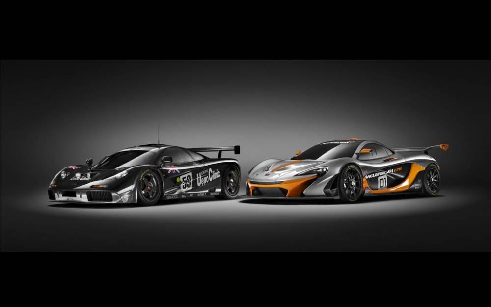 Alors que la F1 GTR (à gauche) pouvait courir en GT - elle a même remporté les 24 heures du Mans en 1995 -, la P1 GTR devrait être réservée à un usage restreint, dans le cadre d'évènements organisés par McLaren. ©  McLaren