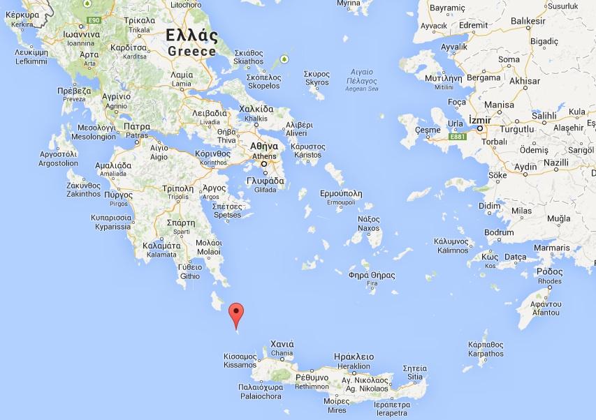 Anticythère ©  Google maps