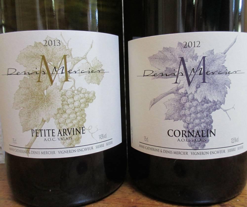 Domaine Mercier, Petite Arvine et Cornalin.