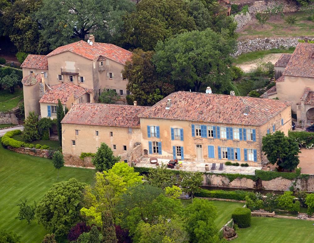 Le château Miraval, dans le Var, acheté par les Jolie-Pitt en 2010 ©  MICHEL GANGNE / AFP