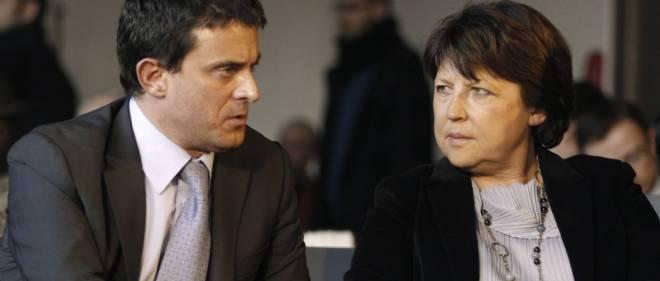 Manuel Valls et Martine Aubry.