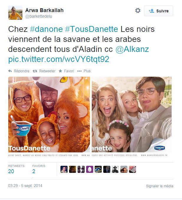La nouvelle campagne de pub Danette fait polémique sur Twitter ©  DR / Capture d'écran Twitter @barkettedelu