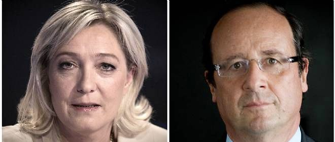 Marine Le Pen et Francois Hollande ici en 2012 (photo d'illustration).