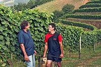 Jean-Louis et Gexan Costera du Domaine Ameztia en irouléguy. ©Louise Oligny