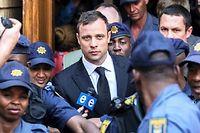 Oscar Pistorius a été jugé coupable d'homicide par négligence. Le 14 février 2013, il avait tué de 4 balles sa petite amie Reeva Steenkamp a travers la porte des toilettes. ©GIANLUIGI GUERCIA