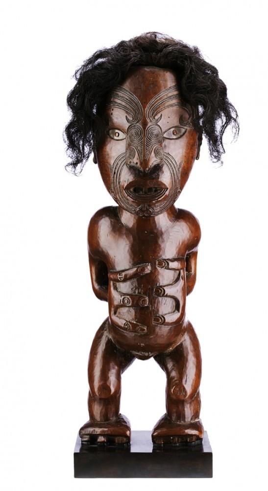 Statue pou whakairo Maori, Nouvelle Zélande © Art Digital Studio / Sotheby's France